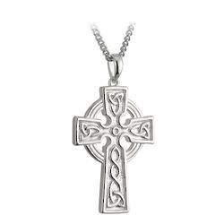 Sterling Silver Double Sided Celtic Cross Pendant
