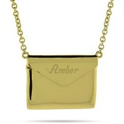 Gold Vermeil Secret Message Envelope Locket