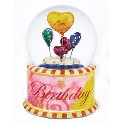 Twinkle Birthday Wishes Rotating Musical Waterglobe