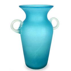 Aquamarine Blown Glass Vase