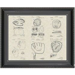 Baseball Gloves 20x24 Framed Patent Art