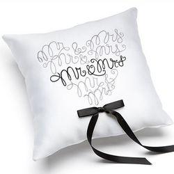 Mr. & Mrs. Ring Pillow