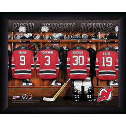 Personalized New Jersey Devils Locker Room Print