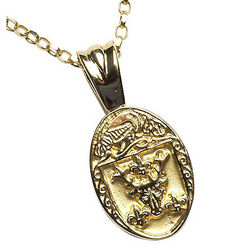 Personalized Oval Coat of Arms Pendant