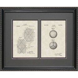 Tennis Racket & Ball Patent Art Framed 16x20 Print