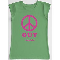 Peace Out Girl's T-Shirt