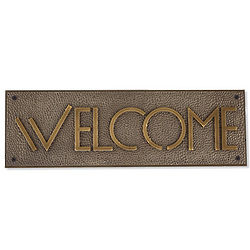 Frank Lloyd Wright Exhibition Typeface Welcome Sign