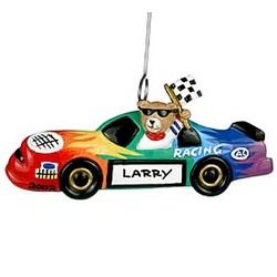 Nascar Race Car Personalized Christmas Ornament