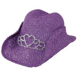Girl's Cowboy Hat with Tiara