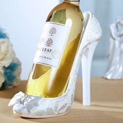 White Snow Lace High Heel Wine Holder