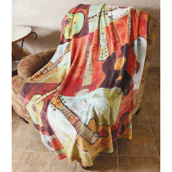 Rockin' Guitars Fleece Throw Blanket
