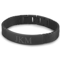 Gunmetal Mesh ID Bracelet