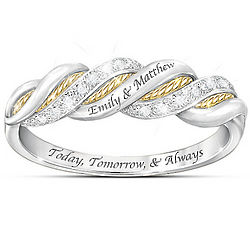 Personalized United in Love Diamond Ring