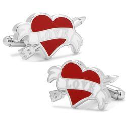 Tattoo Heart 'Love' Cufflinks