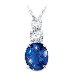 Diana's Legacy of Love Created Sapphire Pendant