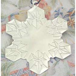 Personalized Silvertone Snowflake Christmas Ornament