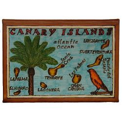 Canary Islands Map Leather Photo Album In Color