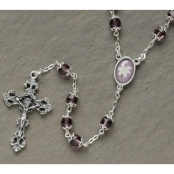 Purple Easter Lily Rosary