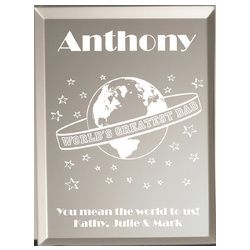 Worlds Greatest Dad Personalized Plaque