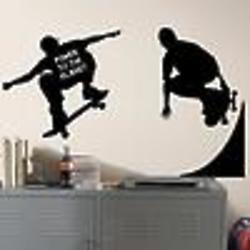 Chalkboard Skaters Peel & Stick Wall Appliques