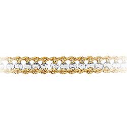 Womens Fancy Bracelet in 10K Two Tone Gold