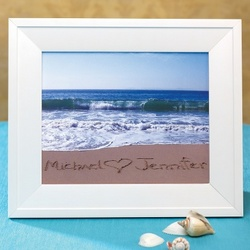 Names in the Sand Custom Seaside Photo