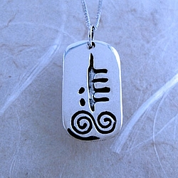 February Silver Celtic Astrology Pendant