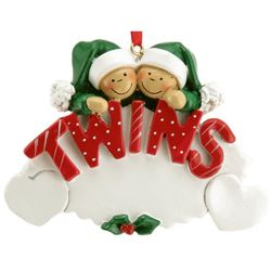Personalized Twins Resin Christmas Ornament