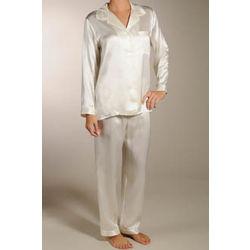 Solid Silk Pajamas