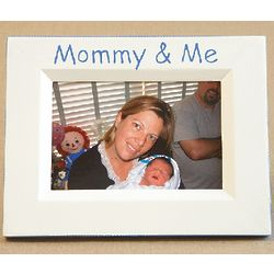 Hand Painted Mommy and Me Picture Frame