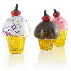 Hand-Blown Glass Cupcake