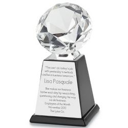 Engravable Crystal Diamond Award