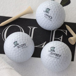 Personalized Wedding Party Design Nike Mojo Golf Ball Set