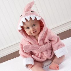Pink Shark Terry Bath Robe