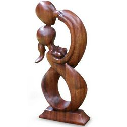 Kiss Me Wood Sculpture