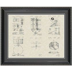 Drums 20x24 Framed Patent Art