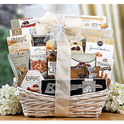Cheese, Crackers and Sweets Gift Basket