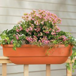 Deck Railing Rectangle Planter