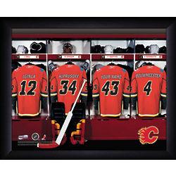 Personalized Calgary Flames Locker Room Print