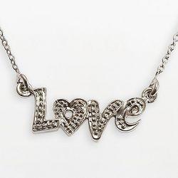 Sterling Silver Diamond Accent Love Pendant
