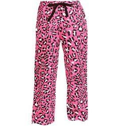 Leopard Print Tie Cord Flannel PJ Pants