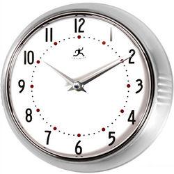 Retro Silver Wall Clock