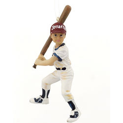 Personalized Youth Baseball Player Christmas Ornament