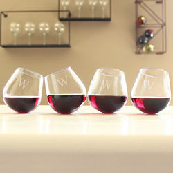 Personalized Tipsy Wine Glasses Set