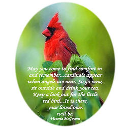 Cardinals Appear When Angels Are Near Glass Ornament
