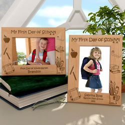 Personalized My First Day of School Wooden Picture Frame