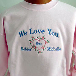 We Love You Personalized Shirt with Kids Names