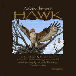 Advice from a Hawk T-Shirt