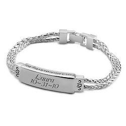 Engraved Mesh ID Bracelet