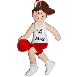 Personalized Girl Basketball Player Ornament